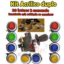 Kit Arcade Duplo Pronto Para Usar Controle Usb Soldado