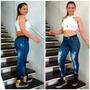 Calça Legging Estampa Jeans Fitness Atacado Kit 10 Peças...