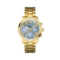 Relogio Guess W0330l13 Ladies Dourado / Azul Original