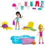 Boneca Polly Pocket Estações Diversão Na Piscina Mattel