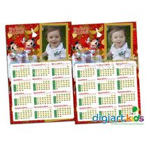 10 Calendários 10x15 Com Imã Personalizado Natal Fim De Ano