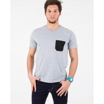 Camisetas Gola V Com Bolso Diversas Cores Ótima Qualidade