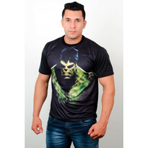 Camisetas Super Heróis Academia Treino Hulk 02