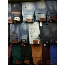 Jeans Calça Masculina Várias Marcas Kit Com 03 Peças