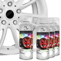 Kit Spray Envelopamento Líquido Rodas Branco Fosco