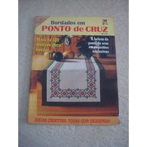 Revista Bordados Modernos Ponto Cruz Toalhas Mesa Flores Nº9
