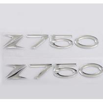 Kit Kawasaki Z 750 Adesivos Resinado 14x2cm Tanque Carenagem