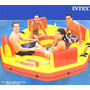Ilha Flutuante Inflável Paraiso Intex 4 Pessoas Piscina Lago