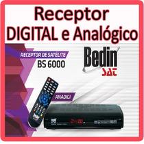 Receptor Analógico E Digital Para Antena Parabólica * Novo *