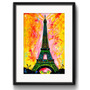 Quadro Paris Arte Decoracao Retro Eiffel Pop Art Paspatur