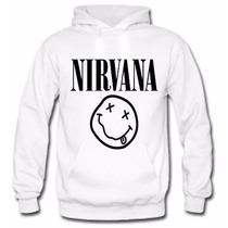 Moletom Casaco Nirvana Banda Rock Musica Blusa De Frio