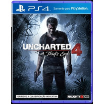 Jogo Uncharted 4 Ps4 Pré Venda - Novo Lacrado