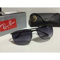 Óculos Rayban Lançamento Haste De Ferro Na Cor Cinza Escuro