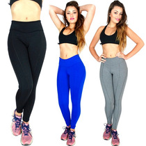 Kit 2 Calça Legging Montaria Suplex Power Feminino Fitness