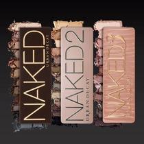 Paleta De Sombra Naked 1, 2, Ou 3 Urban Decay + Pincel