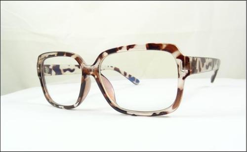 228f947cf1f2b Armação Óculos De Grau Marrom Tartaruga Grande Quadrada A511 R 59.99 ...