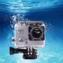 Camera Movel A Prova Agua Carro Moto Capacete Filma Hd Tela