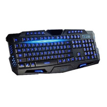 Teclado Gamer Iluminado Led Usb Pc Notebook Multimídia Fio