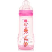 Mamadeira Mam Fashion Bottle Rosa Anti Cólica - 330 Ml