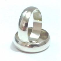 Par Aliança 6mm Prata - Nomes E Frete Gratis + Brinde