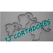 Kit: Barbie C/3pçs Cortadores De Biscoitos (inox)