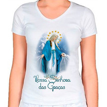 Camiseta Religiosa Baby Look Feminina Nossa Senhora Das Graç