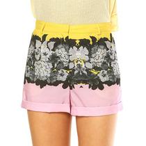 Short Cintura Alta Estampado Topshop Original Florido Floral