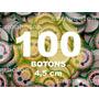 Boton Botton Personalizado 4,5 Cm 100 Unidades Button Botom