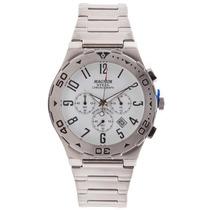 Relógio Masculino Magnum Cronografo, Pulseira Aço Ma30310q