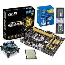 Kit Asus H81m-a/br + Dual Core G3240 3.1ghz + 4gb De Memoria