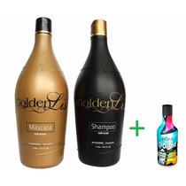Escova Progressiva Golden Lis (2x1000ml) + Brinde Shampoo