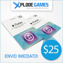Itunes Gift Card $25 - Cartão Itunes $25 - Ipod Iphone Ipad