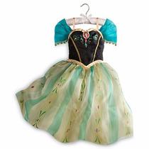 Fantasia Anna Frozen Disney Vestido Coroação Ana 9/10 Anos