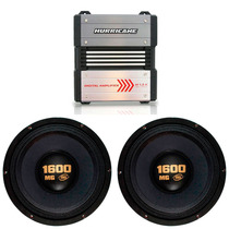 Kit Hurricane H 1.8k 1800w Rms + 2 Woofer Eros 1600mg 1600w