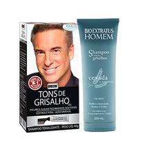 Kit 2 Shampoo Para Cabelos Grisalhos Grecin E Bio Extratus