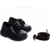 Sapato Social Infantil Masculino Ref 583 Com Brinde Cinto