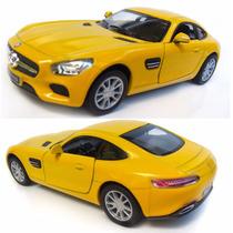 Mercedes Amg Gt Carro Miniatura Ferro Fricção 1:36 Carrinho