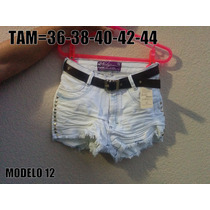 Short Jeans Hot Pants Cintura Alta Customizado +brinde Cinto