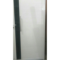 Porta Lambril Branca 90x210 Com Vidro
