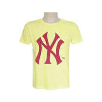 Camisa New York Yankees Amarela Cod77510 Várias Medidas