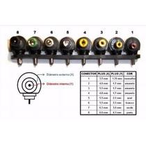 Kit 8 Conector Plug Pino Fonte Universal Notebook Reposição