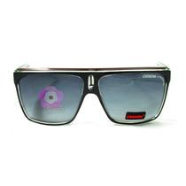 Óculos De Sol Quadrado Carrera 22 Preto   Branco   Marrom