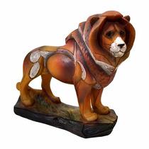 Enfeite Decorativo Leão De Resina 17.5 Cm Cod 05913
