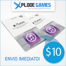Itunes Gift Card $10 - Cartão Itunes $10 - Ipod Iphone Ipad