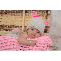 Manta Tricô Pompom Newborn Stúdio Fotográfico.