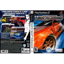 Need For Speed Underground 1 E 2 Playstation 2 Dvd Rom