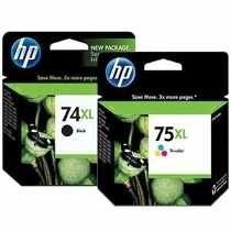 Kit De Cartuchos Hp 74xl E 75xl Original