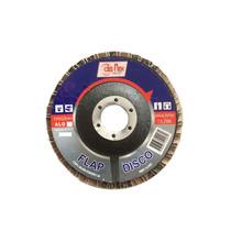 50 X Discos Flap Alo 4.1/2 X 7/8 - Grão 50 - Disflex