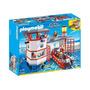 5539 Playmobil Cidade Posto Da Guarda Costeira Com Luz