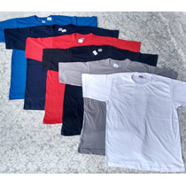 10 Camisetas Lisas De Algodão Tradicional S/ Estampa Atacado
